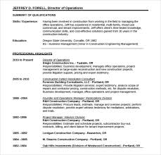 10 Construction Resume Templates Free Samples Examples