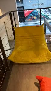 Waverunner Sofa Los Angeles by Togo Armchair In Brilliant Yellow Harald Velvet Great Condition