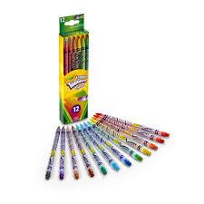 Crayola Bathtub Crayons 18 Vibrant Colors by Crayola Eraseable Twistables Colored Pencils 12 Count Walmart Com