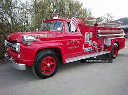 100 Ford Fire Truck 1957 F800 Big Job Seagrave Old S