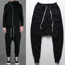 2018 Wholesale Mens Joggers Casual Urban Clothing Trousers Harem Pants Men Black Fashion Swag Dance Drop Crotch Hip Hop Sweatpants For From Blairi