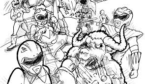 Beautiful Mighty Morphin Power Rangers Coloring Pages 41 With Additional Line Drawings