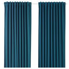 majgull block out curtains 1 pair blue green 145x250 cm ikea