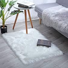 yihaic faux lammfell schaffell teppich modern wohnzimmer teppich flauschig lange haare fell optik gemütliches schaffell bettvorleger sofa matte