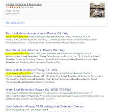 Yelp Search Page Ranking In Google Organic Results