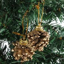 Homemade Automatic Christmas Tree Waterer by 9pcs Christmas Tree Decration Gold Pine Cones Xmas Tree Home Decor