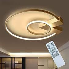 modern led wohnzimmer deckenle 35w dimmbar schlafzimmer deckenleuchte mit fernbedienung gold rund aluminium acryl design kronleuchter für innen
