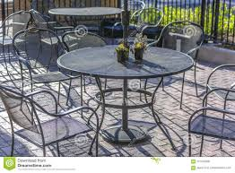 Metal Table And Chairs Outside Of Shop Stock Photo - Image Of Chair ... All Weather Outdoor Patio Fniture Sets Vermont Woods Studios Small Metal Garden Table And Chairs Folding Cafe Tables And Chairs Outside With Big White Umbrella Plant Decor Benson Lumber Hdware Evaporative Living Ideas Architectural Digest Superstore Melbourne Massive Range Low Prices Depot Best Large Round Outside Iron Home Marvellous How To Clean Store Garden Fniture Ideas Inspiration Ikea