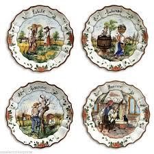 intrada italian ceramic hand painted four seasons plates set of 4