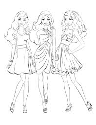 Elegant Barbie Coloring Pages And Free