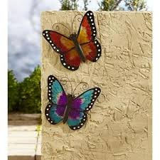 Essential Garden Large Butterfly Wall Decor Yellow