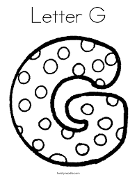 Letter G Coloring Page Twisty Noodle