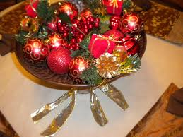Homemade Christmas Decorations With Table Arrangements On White Paper And Chic Colorful Candy Plus Red Baubles