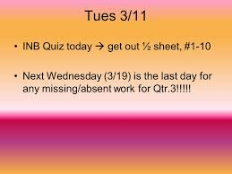 Last Day For 1 Any by Fri 2 28 Test Chp 12 Today Ppt Online Download