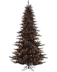 The Holiday Aisle 45 Black Fir Artificial Christmas Tree With 250 Clear White Lights