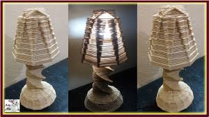 How To Make A Popsicle Stick Table Lamp