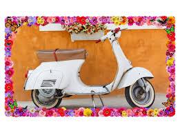 3d wandtattoo retro mofa bike auto blumen vintage selbstklebend wandbild wohnzimmer wand aufkleber 11m1291