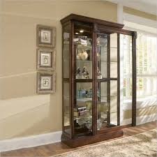 Pulaski Concave Corner Curio Cabinet by High Point Furniture Nc Furniture Store Queen Anne Furniture