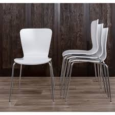 Shop LumiSource Woodstacker Contemporary White Dining Chairs (Set Of ... Industrial Modern Tolix Style Bamboo White Alinum Ding Chairs Luna Room Contemporary Leatherette Height Set Of 2 Corliving Filia Chair Side Copper Grove Spicata Wood Armless Ebay Amazoncom Target Marketing Systems Tms Country Arrowback Fniture America Livada Ii Counter Cm3170wh Adderley Urbanmod By Leyden Antique Gdf Studio Wm String Nannie Inez Vida Living Louis Silver From