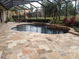 interior exterior patio flooring options with swimming