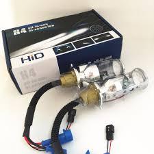 2x 35w automobile h4 9003 hb2 hi lo beam spotlight projector lens
