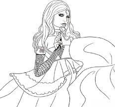 Coloring Pages Girls Vampires
