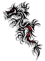 Amazing 3D Tribal Dragon Tattoo Design
