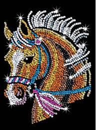 Sequin Art Blue Horse Sparkling Arts And Crafts Picture Kit Creative For