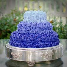 Image of Purple And Blue Wedding Cakes
