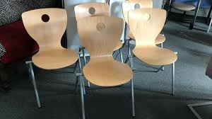 5 stück stapelstühle holz stühle esszimmer panto 31221