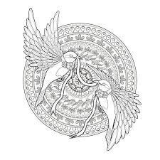 Free Coloring Page Adult Golondrinas Flying By Kchung Two
