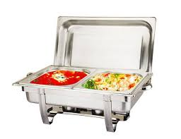 Stainless Steel 11 Liter Dual Tray Chafing Dish