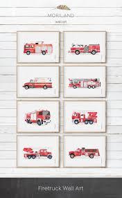 Fire Truck Print, Fire Truck Printable, Ladder Truck Print ...