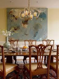 Abstract Painting Ideas Dining Room Traditional With Table Metal Wall Mirrors