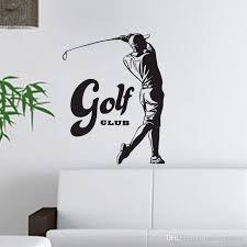 großhandel golf wandaufkleber dekorative vinyl wandtattoos sport spiel inneneinrichtung home wandmalereien aufkleber moderndecal 9 55 auf