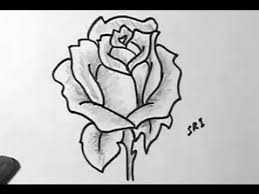 How to Draw A Rose flower image Easy Drawing with shading