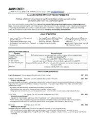 Sample Resume For Sales Format Executive Marketing Manager