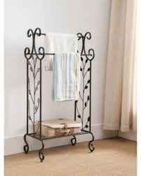 don u0027t miss this deal on black metal free standing towel rack stand