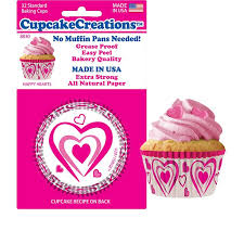 CupcakeCreations Happy Hearts Standard Cupcake Liners