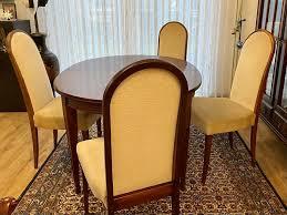 mahagoni esstisch 4 stühle gebraucht
