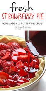 This easy fresh strawberry pie with Homemade All Butter Crust is bursting with fresh strawberries