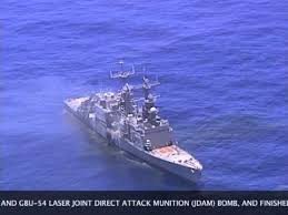 Uss America Sinking Location by The Sinking Of Uss Cushing Dd 985 Youtube