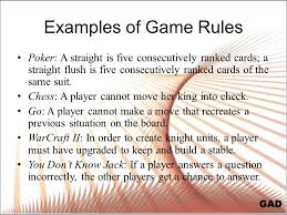 Game Procedures Who Does What Where When And How