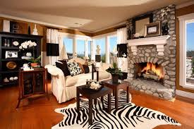 Brown Couch Living Room Design by 17 Zebra Living Room Decor Ideas Pictures