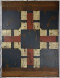 Antique Hand Painted American Wooden Game Board Parcheesi 19th Century From Antiquesonemerson On Ruby Lane