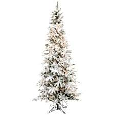 Flocked Xmas Trees Slim Pencil 7 5 Alaskan Christmas Tree Uk