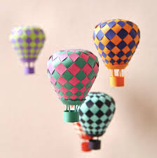 32 Hot Air Paper Balloons Decorations