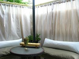 Outdoor Patio Curtains Canada by Decorations Outdoor Curtains Touch Of Class With Stripe Outdoor