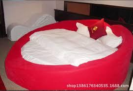 red heart shaped bed water bed frame inside diameter of 2 meters