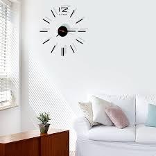 Modern Design DIY Acrylic Mirror Wall Clocks 3D Sticker Clock Home Decoration Living Room Home Decor